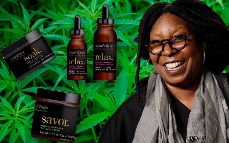 USA: Whoopi Goldberg Launches Medical Marijuana Line For Women
