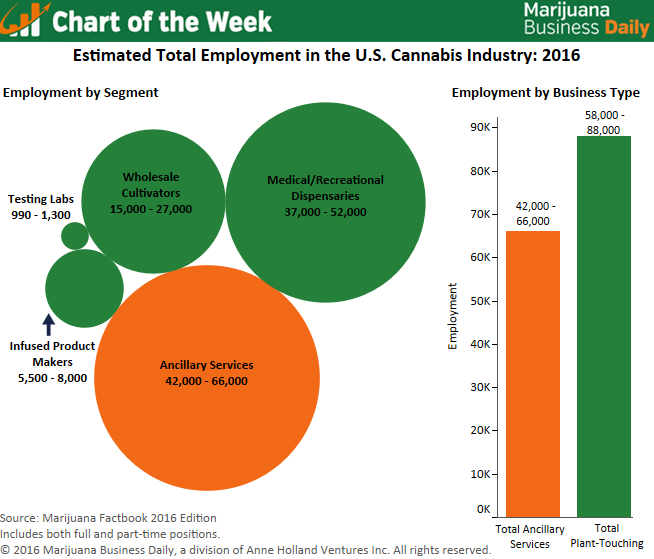 "USA: MJ Biz Publish Chart "" Employment In The Cannabis Industry"""
