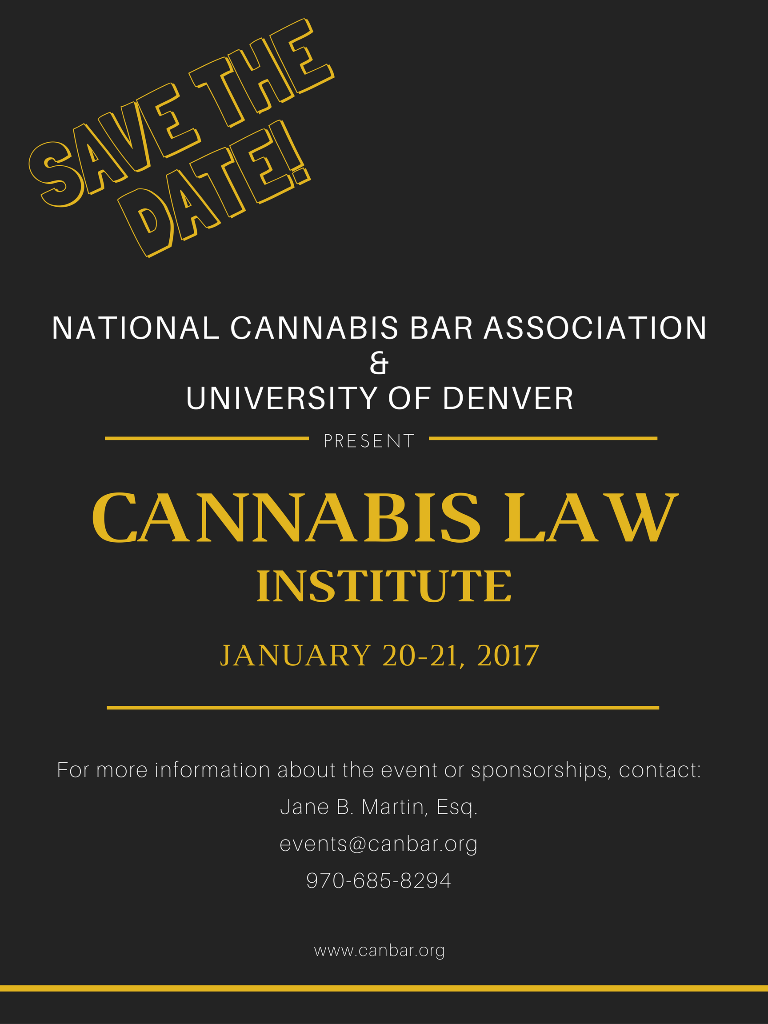 NCBA & University of Denver Present Cannabis Law Institute