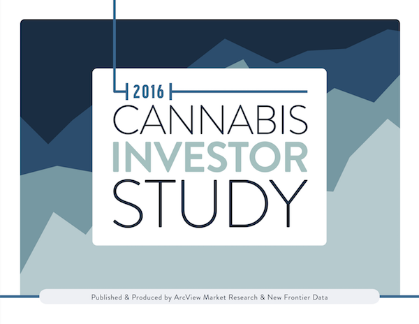 "USA: Just Published ""Arcview Market Research, along with New Frontier Data, just released the 2016 Cannabis Investment Study: An Exclusive Look Into the Vanguard Investors of The Arcview Investor Network"""