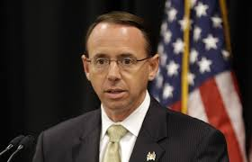 USA: Deputy Attorney General Rod Rosenstein. Hammers, Whips, Changes ..It's all in the Wind