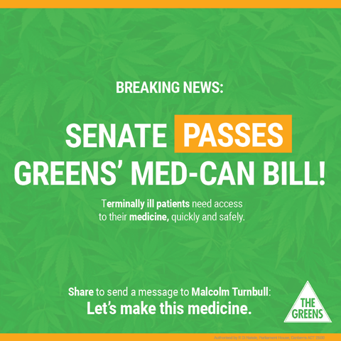 Australia: Senate Passes The Greens' Medical Cannabis Bill