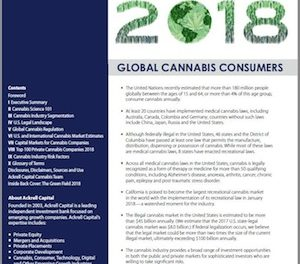"Ackrell Capital Publish Free ""2018 Cannabis Investment Report(s)."""