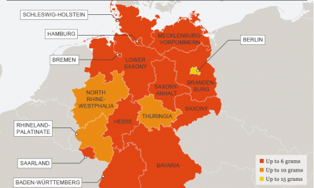 Map Outlines Cannabis Possession Allowed by State In Germany