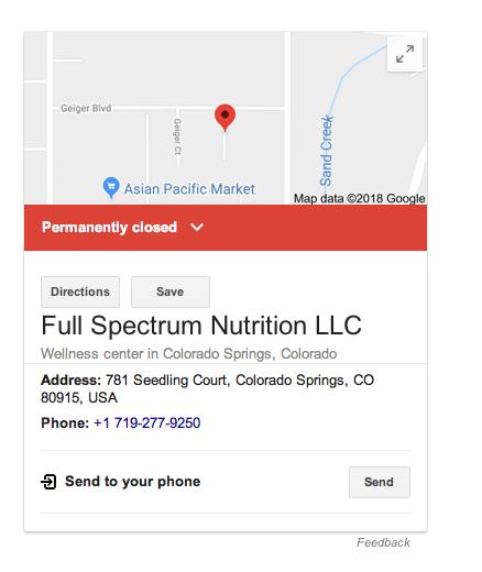 Florida Doctors Sue CO Based CBD Company, Full Spectrum Nutrition