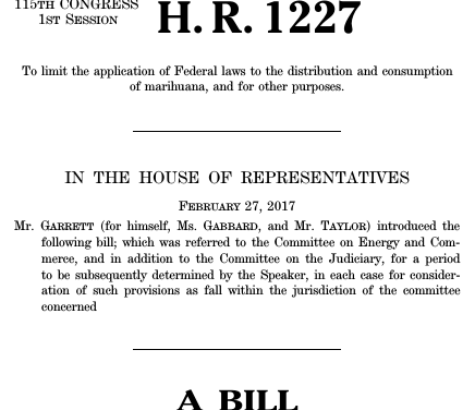 The Ending Federal Marijuana Prohibition Act of 2017, HR 1227.