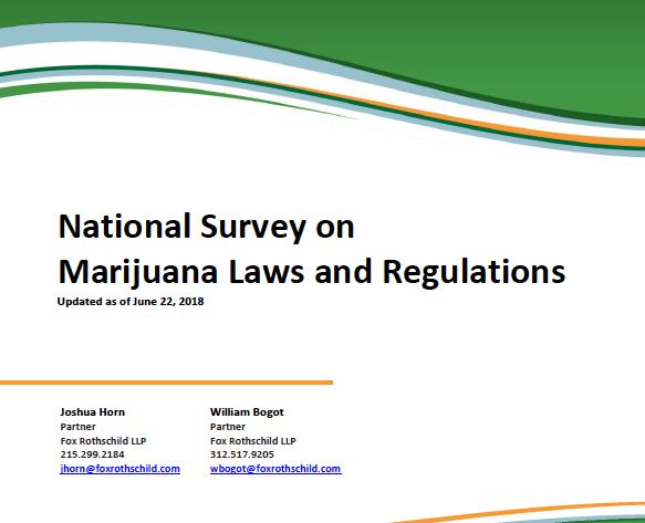 "Fox Rothschild Publish Free Pdf Download, National Survey On Marijuana Laws & Regulation"""