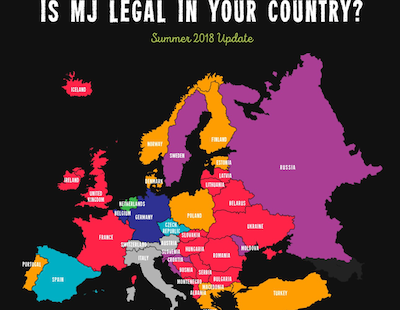 Herbonaut's Cannabis Regulation Map of Europe