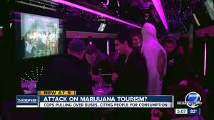 "Denver crackdown on marijuana tour buses heads to court while city task force says ""legalize it."" Employees face charges of ""unlawful acts"" and violating the Colorado Clean Indoor Air Act."