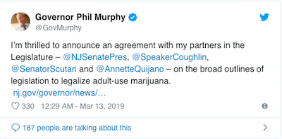 New Jersey Gov Says Big Announcement Coming On Cannabis Regulation In Next Few Days
