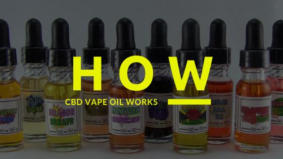 How CBD Vape Oil Works