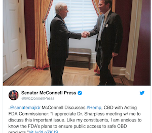 Mitch McConnell Wants FDA To Pick Up The Pace On CBD Rules & Regs