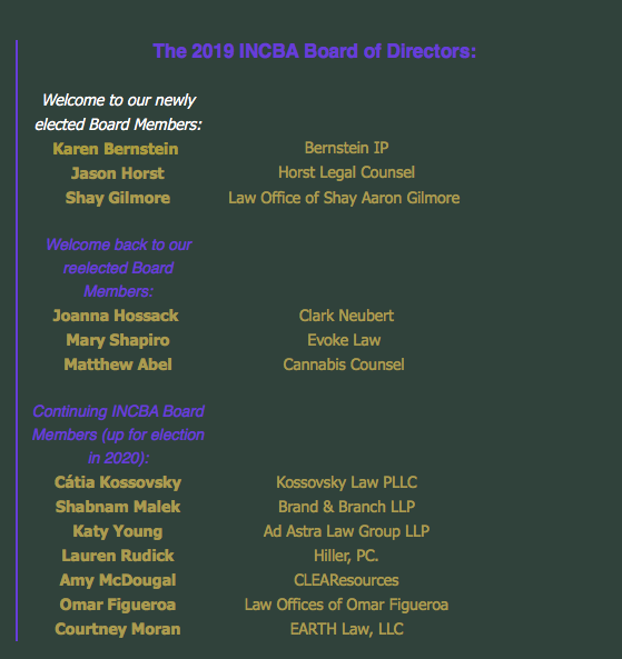 Hemp Events 2020 Albuquerque.Incba Announce Their Board Of Directors For The 2019 2020