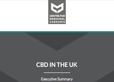 "UK: The Centre for Medicinal Cannabis (CMC) – Report ""​CBD in the UK: Towards a responsible, innovative and high-quality cannabidiol industry"""