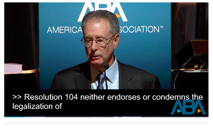 American Bar Association: Resolution 104 On States Rights