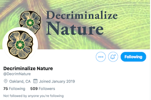 Oakland – Event : Decriminalize Nature Oakland (DNO) Thursday August 29th 7:30-9:00pm