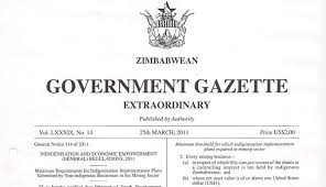 Zimbabwe Gazettes Regulated Cannabis  For Approved Suppliers & Growers
