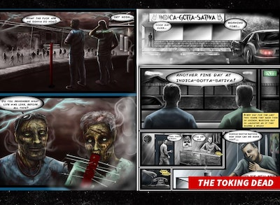 """Cannabis Zombie Comic In TM Fight With AMC Creators Of """"The Walking Dead"""""""