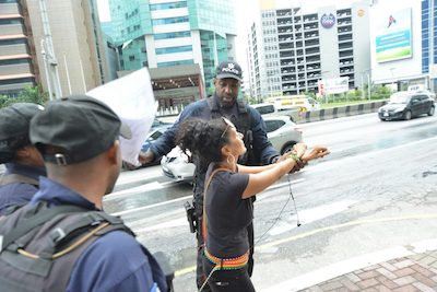 "Trinidadian Cannabis Activist Arrested Outside Parliament Under Summary Offences Act, Which Deals With ""violent language and breach of the peace"""