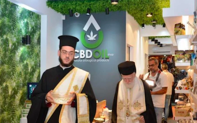 Archbishop Ireneos of Crete Blesses CBD Shop Opening On Island