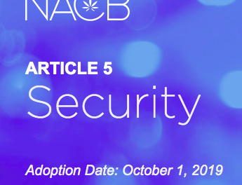 NACB: Adoption of their National Standards on Security