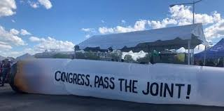 Activists Deploy Giant Joint In Next Round Of SAFE Bill Advocacy in DC