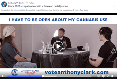 Illinois congressional candidate smokes cannabis in campaign ad