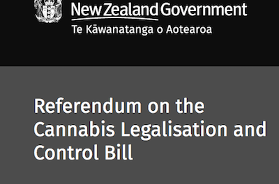 New Zealand Government Publishes 2020 Cannabis Referendum Website