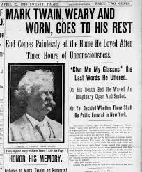 "Mark Twain is the code for life that High Times live by, ""The reports of my death are greatly exaggerated"""