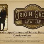 Heather Burke principal at Origin Law presentation on cannabis appellations in California