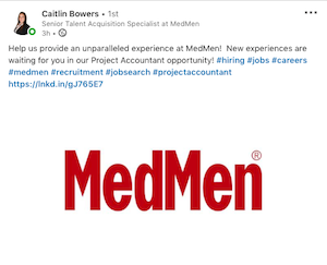 """MedMen Job Ad Offers An """"Unparalled Experience"""""""