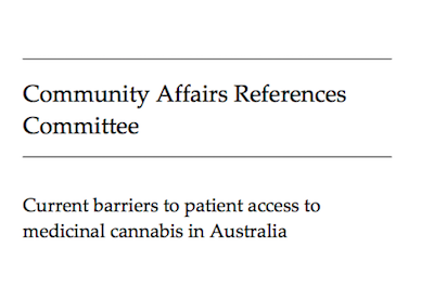 """Australia: Senate Committee On """"Current Barriers To Patient Access To Medicinal Cannabis In Australia"""