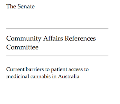 "Australia: Senate Committee On ""Current Barriers To Patient Access To Medicinal Cannabis In Australia"