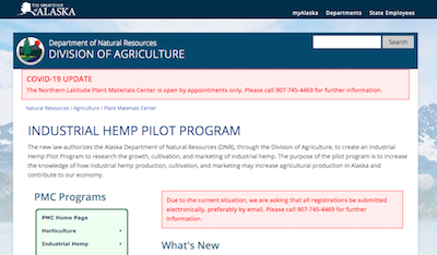 Alaska's hemp industry set to go live through online-only registrations