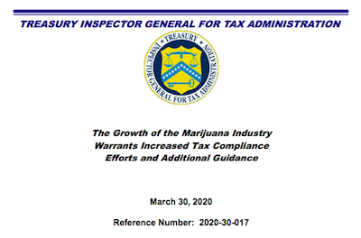 Treasury Inspector General Recommends More Tax Audits for Cannabis