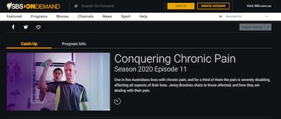 Australia: Public TV Channel SBS Show On Chronic Pain & Medical Cannabis