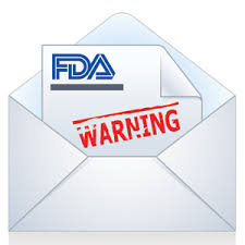 FDA sends warning letter over the pond  to UK CBD company