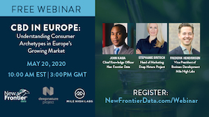 New Frontier Data, Mile High Labs and Deep Nature Project Present: CBD In Europe