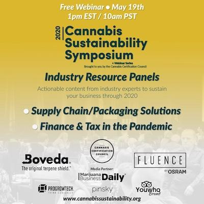 Cannabis Sustainability Symposium Webinar
