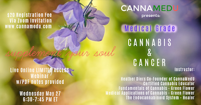 Sponsored Post: Webinar – Medical Grade Cannabis & Cancer 27 May 2020