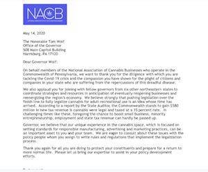 "National Assoc of Cannabis Businesses Sends Open Letters To NE Governors Requesting ""Regionally Coordinated Legalizatin Strategy"""