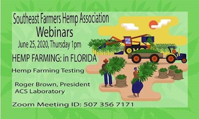 The Southern Farmers Hemp Association – SFHA Hemp Farming in Florida-Hemp Testing