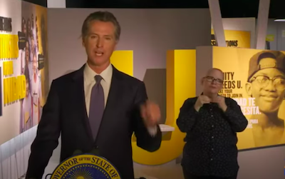 "CA: Gov Newsom, ""Legalization around adult-use of marijuana,"" he said. ""It was a civil rights call from our perspective."""