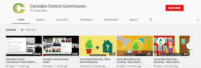 Did you Know? Massachusetts Cannabis Control Commission Has A Great You Tube Channel?