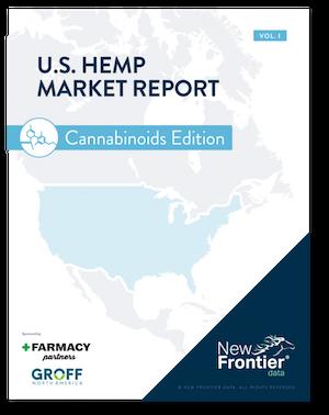 New Frontier Data – New Publication: U.S. Hemp Market Report: Cannabinoids Edition, Volume 1