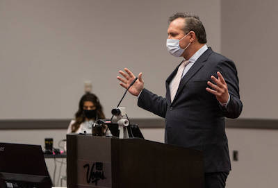 Nevada: Over 40 Attorneys (Masked Up) Crowd Courtroom Otherwise Known As Las Vegas Convention Center, In Dispensary Licenses Lawsuit