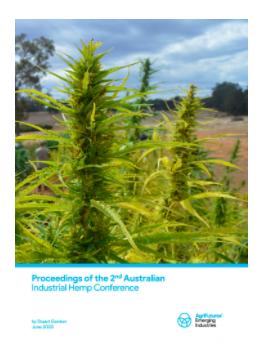 Publication: Proceedings of the 2nd Australian Industrial Hemp Conference 2020