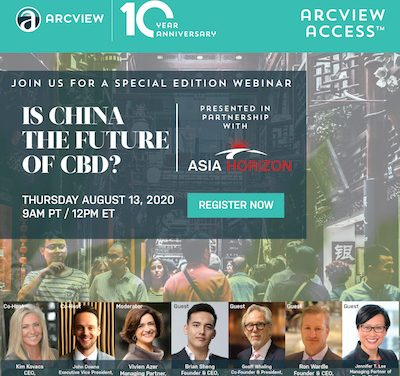 Arcview Access™ Special Edition with Asia Horizon – Is China The Future of CBD?