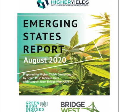 New Publication – USA: August Emerging States Report  Prepared by: Bridge West, Higher Yields Consulting, and Green Rush Indexed Data