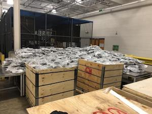 Over 1,000 Pounds of Cannabis Seized at Fort Street Cargo Facility Manifested as Steel Wire
